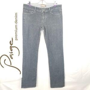 Paige Premium Denim Greywash Straightleg Jeans
